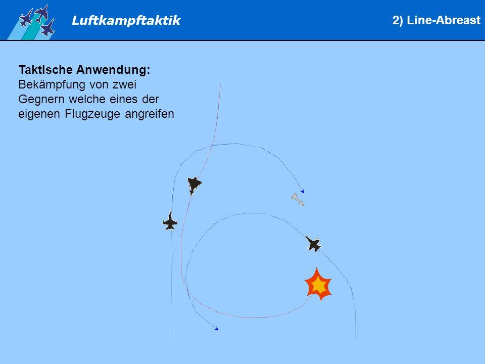 2) Line-Abreast Taktische Anwendung: Bekämpfung von zwei Gegnern welche eines der eigenen Flugzeuge angreifen.