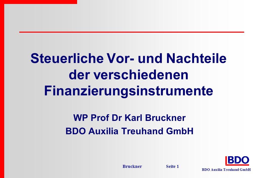 WP Prof Dr Karl Bruckner BDO Auxilia Treuhand GmbH