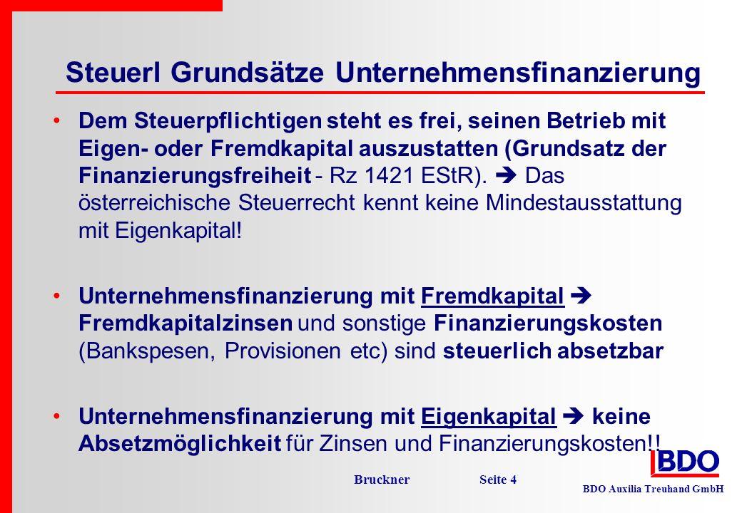 Steuerl Grundsätze Unternehmensfinanzierung