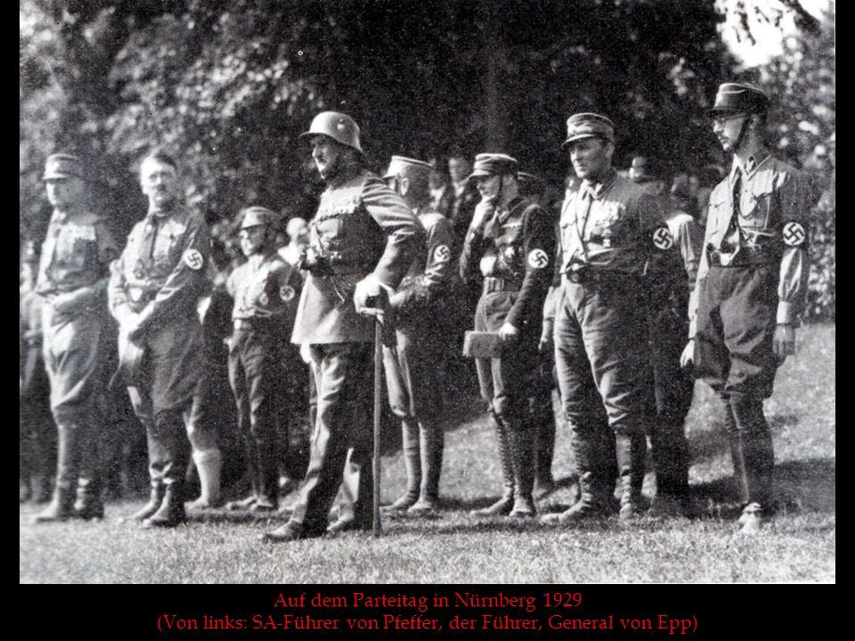 Auf dem Parteitag in Nürnberg 1929