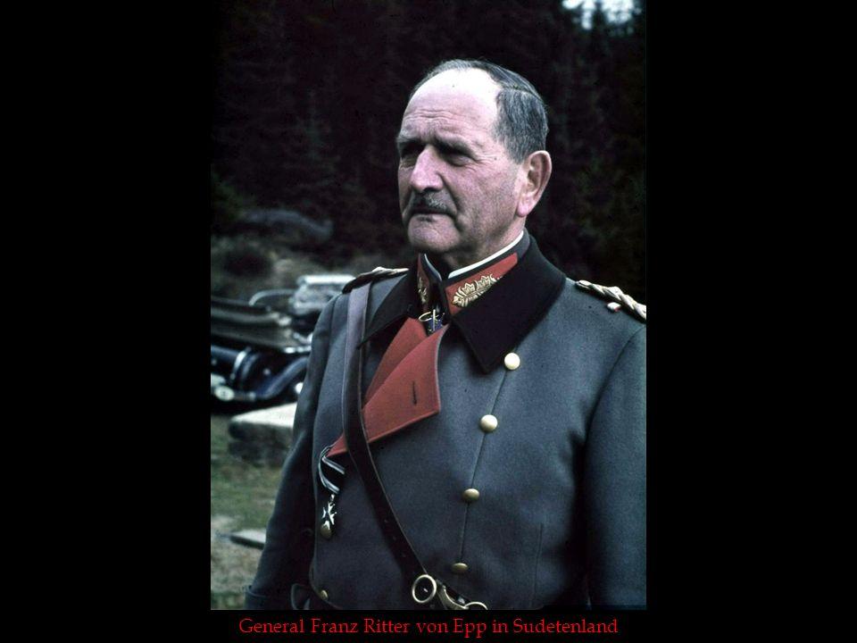 General Franz Ritter von Epp in Sudetenland