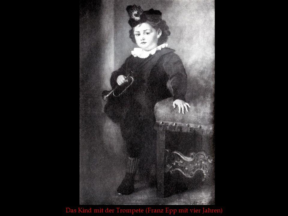 Das Kind mit der Trompete (Franz Epp mit vier Jahren)