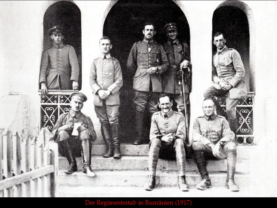 Der Regimentsstab in Rumänien (1917)