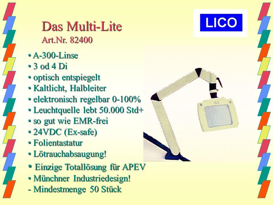 Das Multi-Lite • Einzige Totallösung für APEV Art.Nr. 82400
