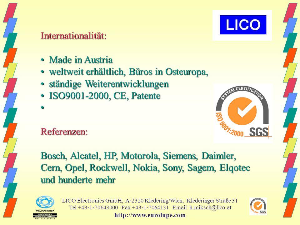 • weltweit erhältlich, Büros in Osteuropa,