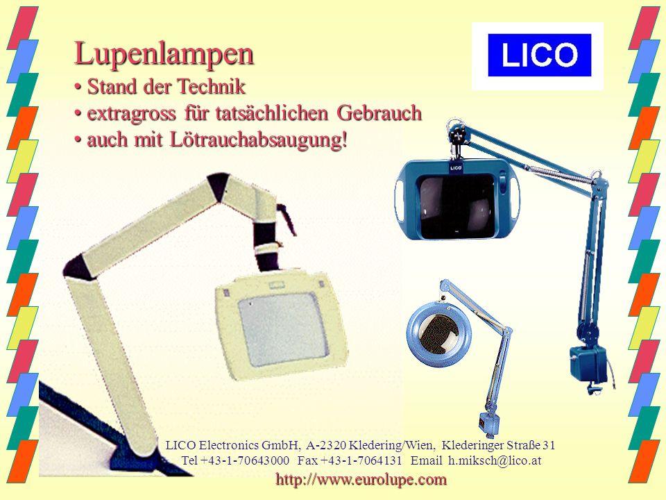 Lupenlampen • Stand der Technik