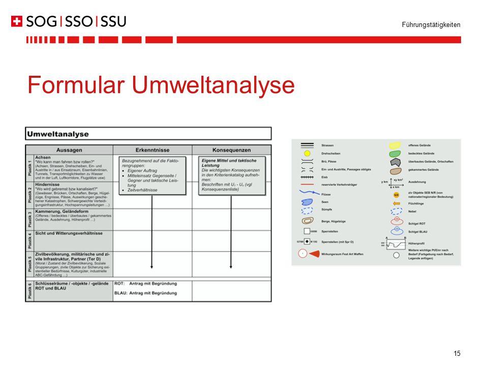 Formular Umweltanalyse