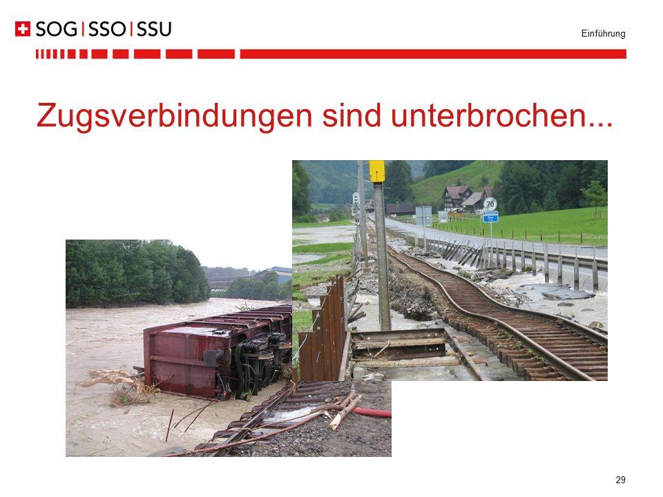 Zugsverbindungen sind unterbrochen...