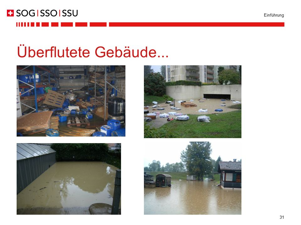 Einführung Überflutete Gebäude...