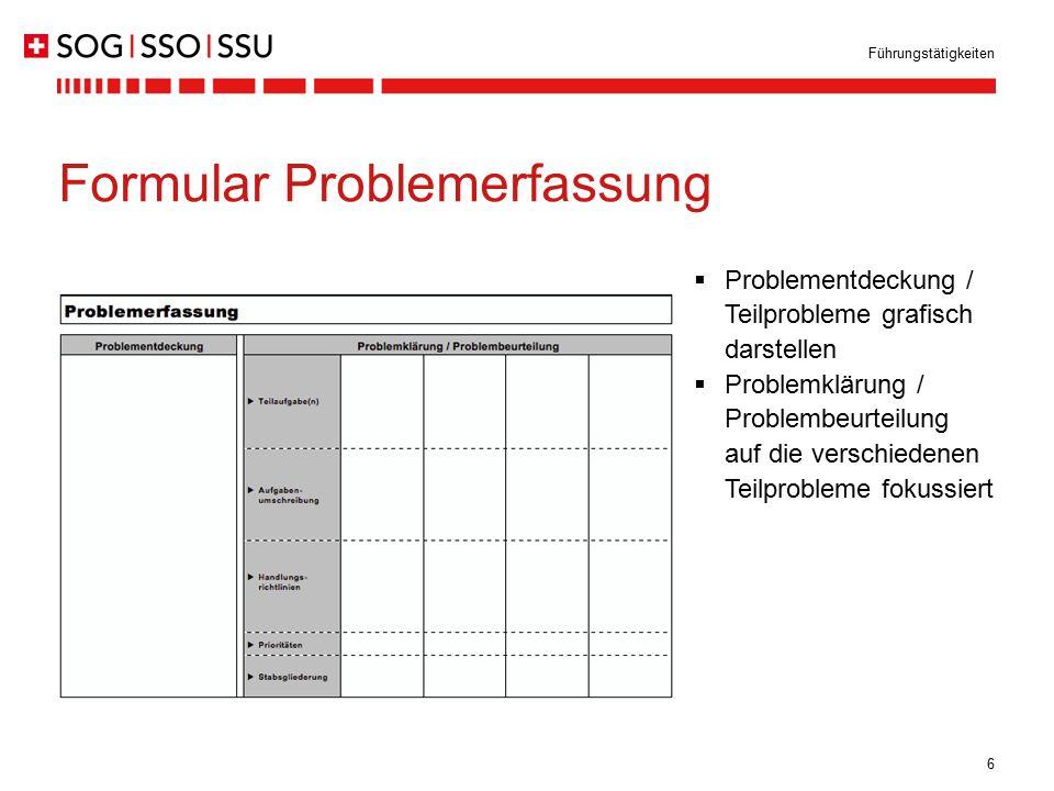 Formular Problemerfassung