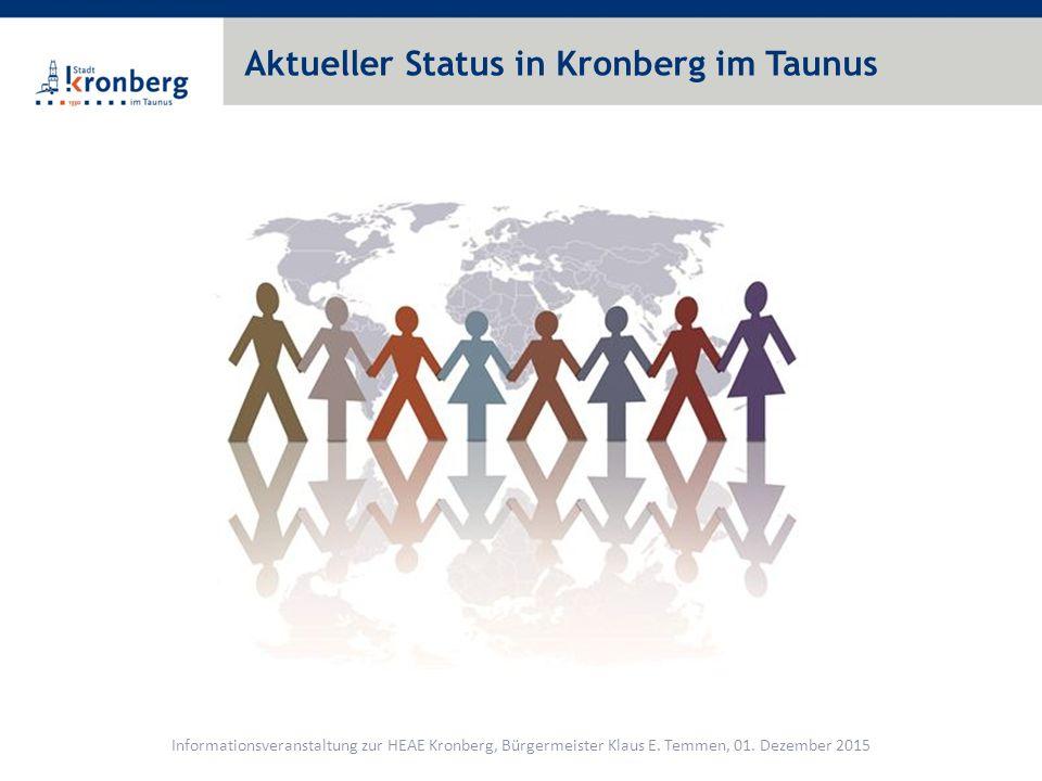 Aktueller Status in Kronberg im Taunus