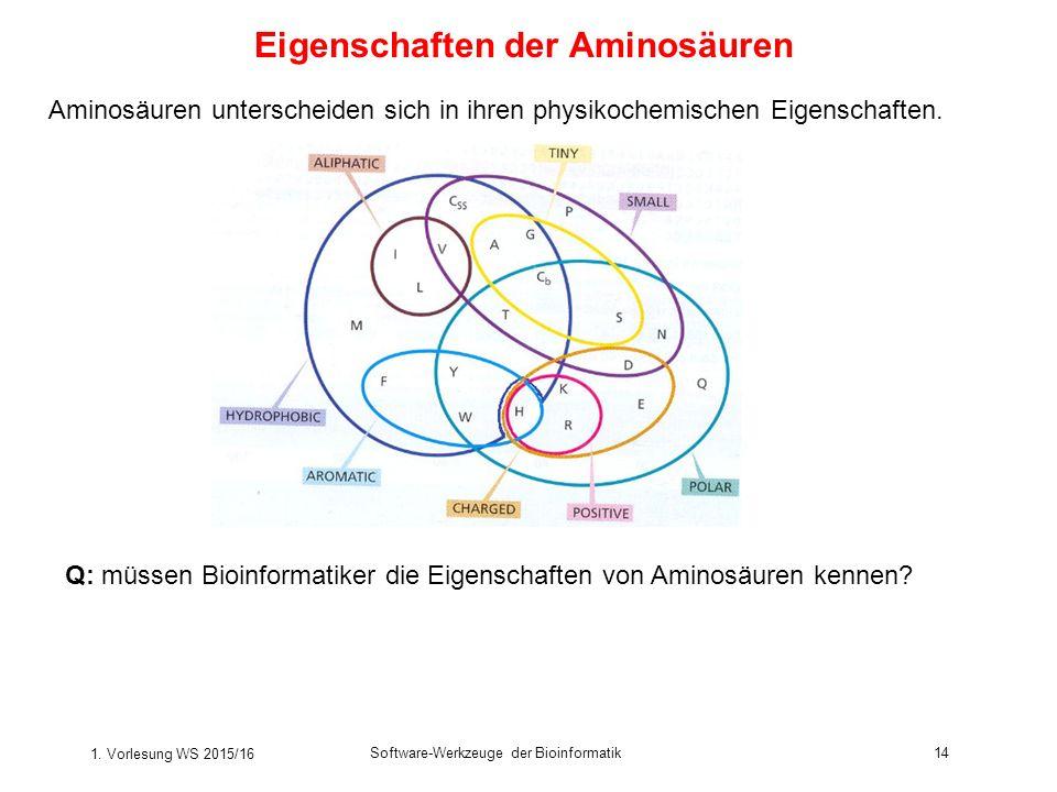 Eigenschaften der Aminosäuren