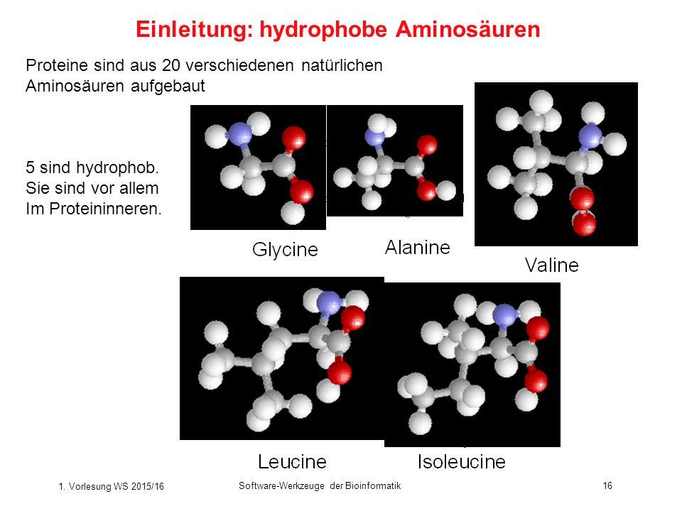 Einleitung: hydrophobe Aminosäuren