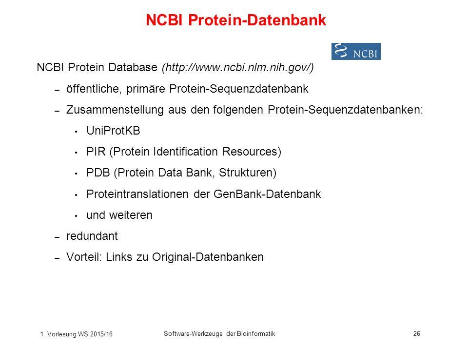 NCBI Protein-Datenbank