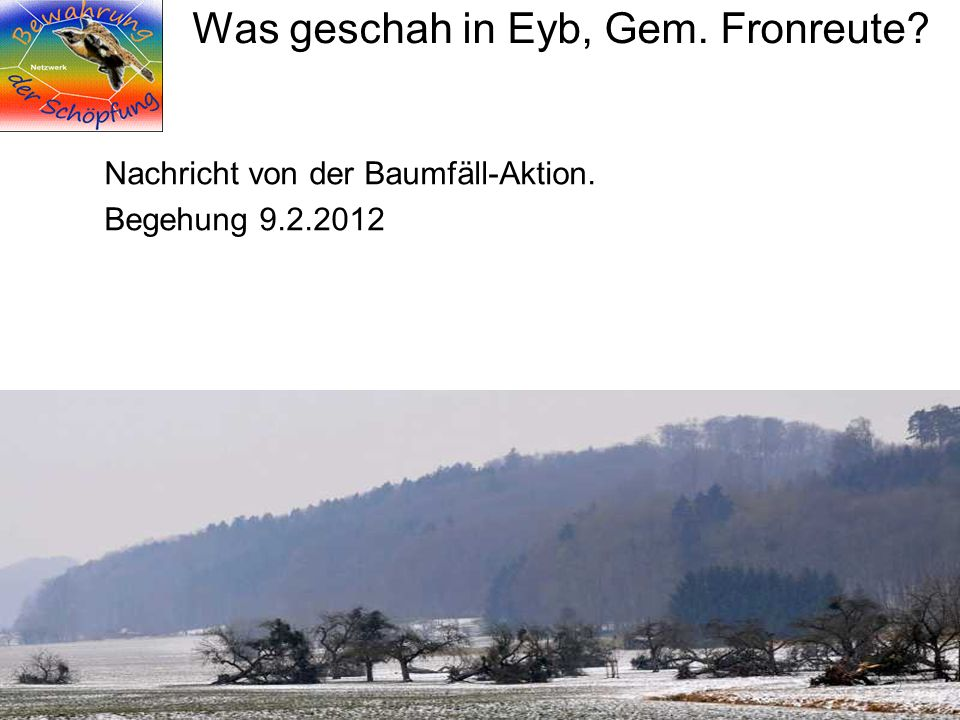 Was geschah in Eyb, Gem. Fronreute