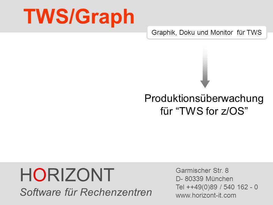 TWS/Graph HORIZONT Produktionsüberwachung für TWS for z/OS