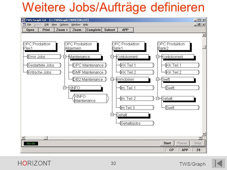 Weitere Jobs/Aufträge definieren