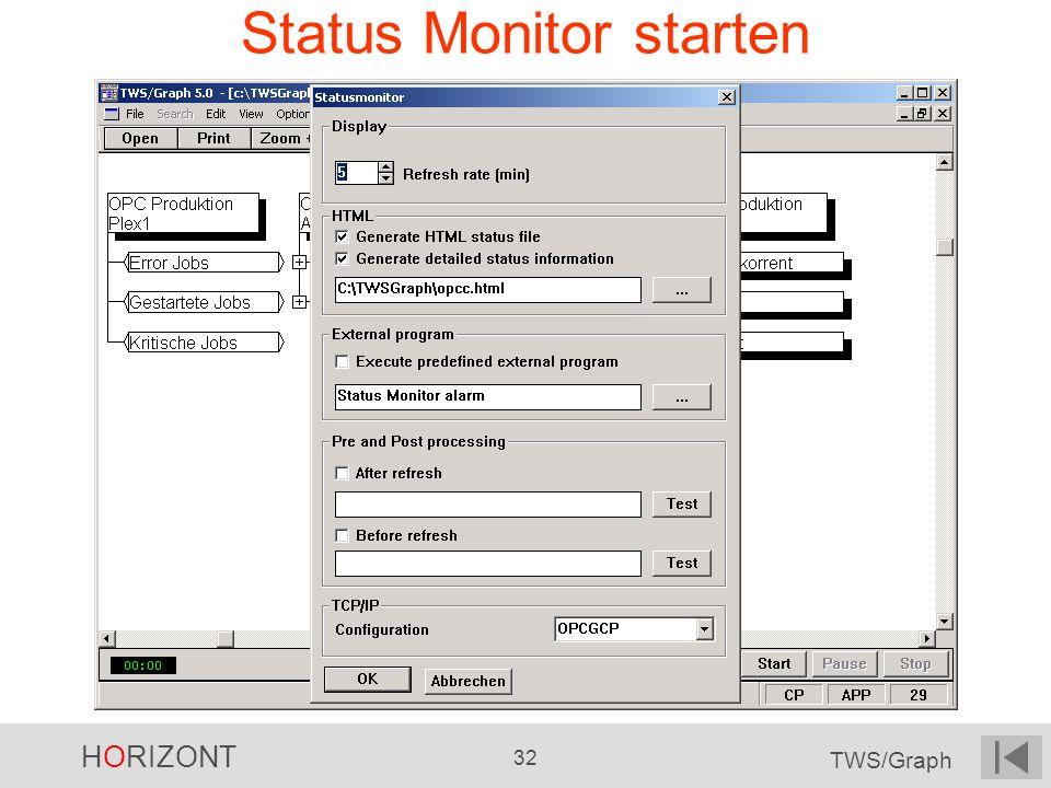 Status Monitor starten
