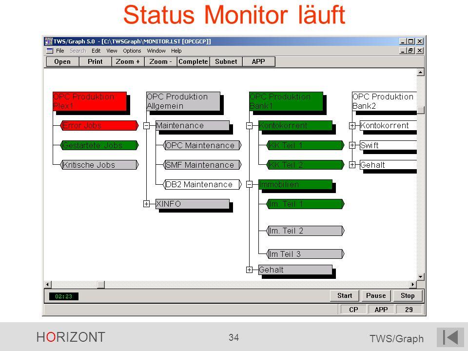 Status Monitor läuft