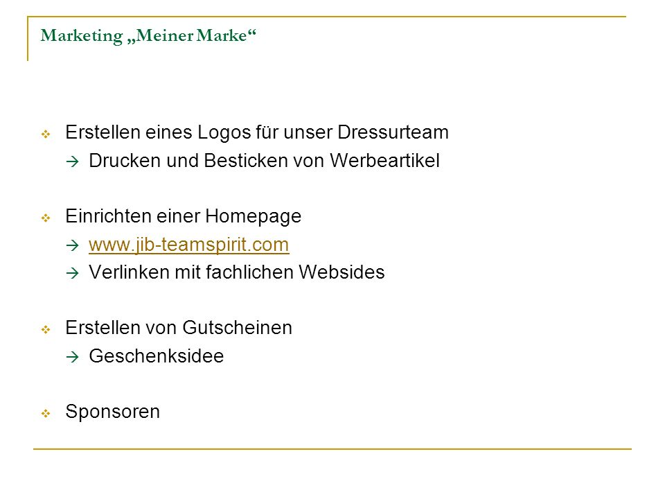 "Marketing ""Meiner Marke"