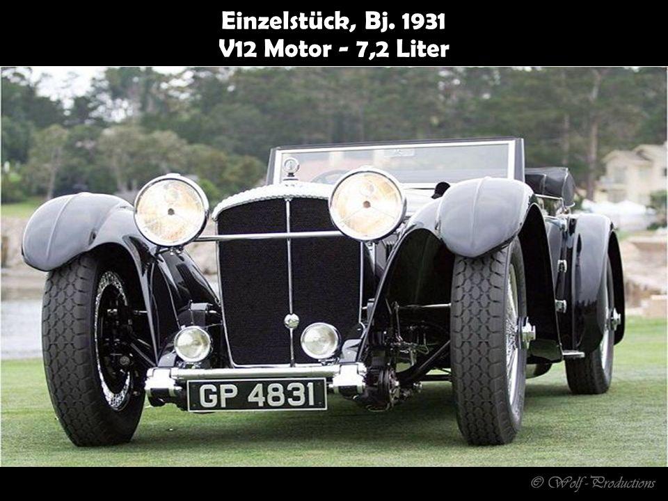Einzelstück, Bj. 1931 V12 Motor - 7,2 Liter