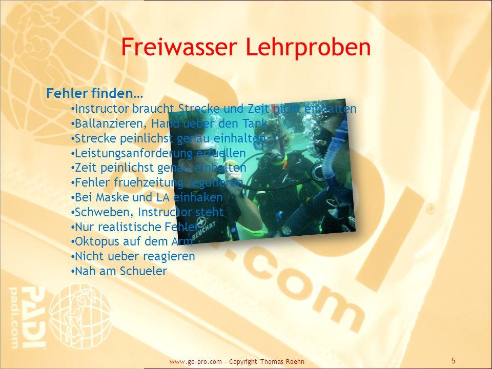 Freiwasser Lehrproben