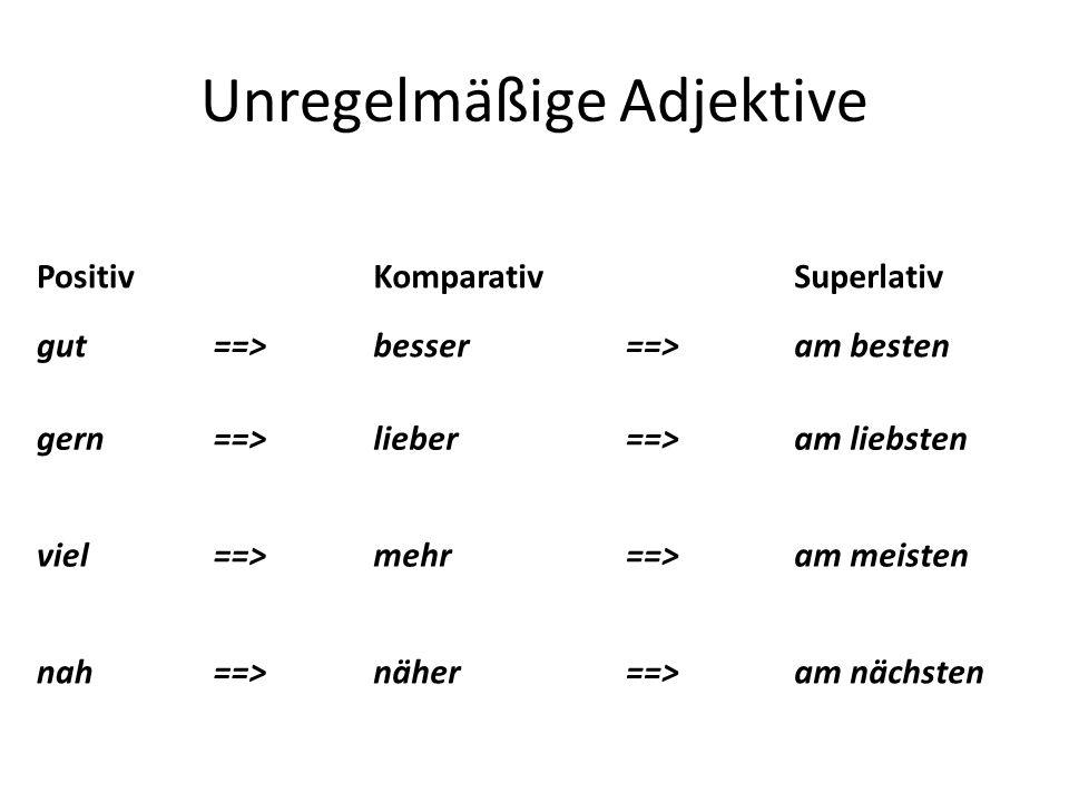 Unregelmäßige Adjektive