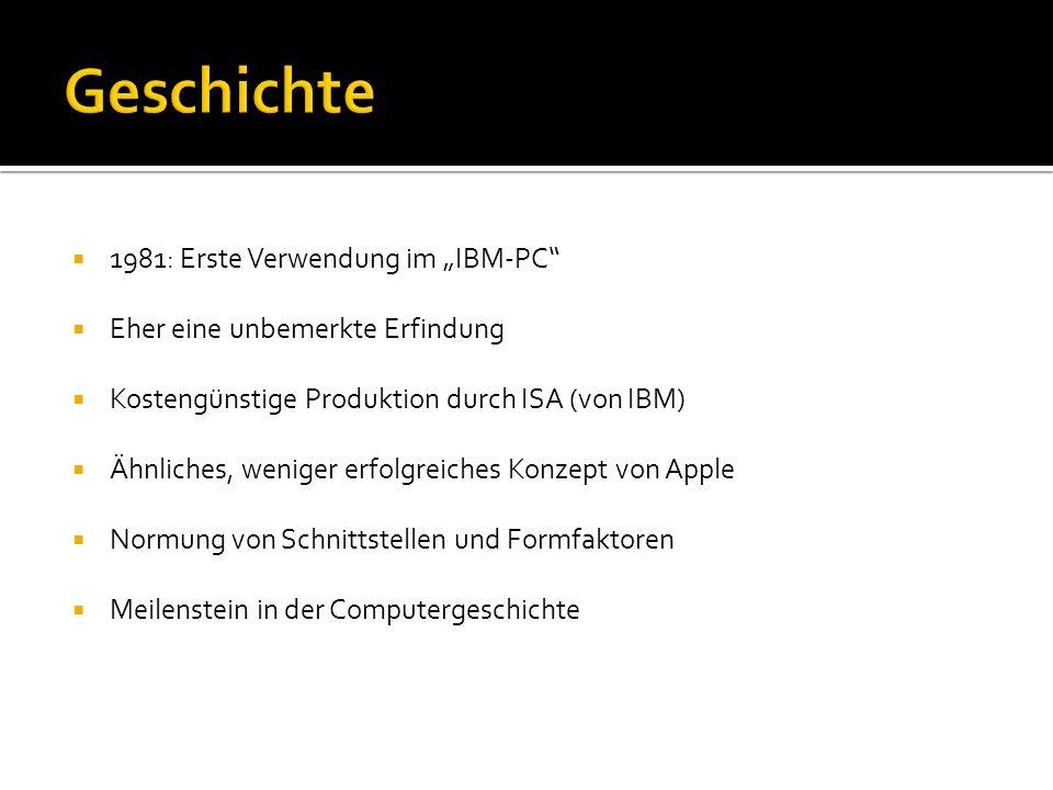 """Geschichte 1981: Erste Verwendung im """"IBM-PC"""
