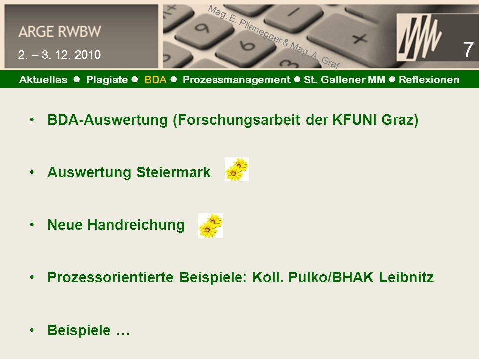 Mag. E. Plienegger & Mag. A. Graf