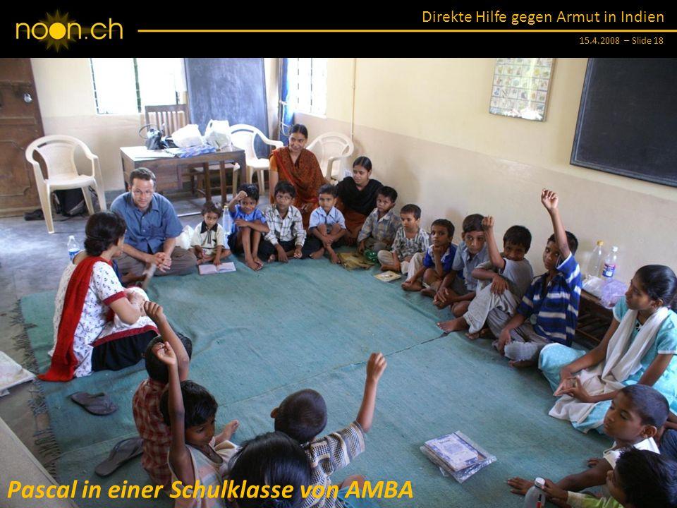 Pascal in einer Schulklasse von AMBA