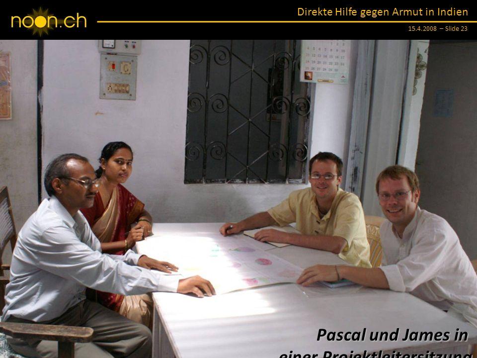 Pascal und James in einer Projektleitersitzung
