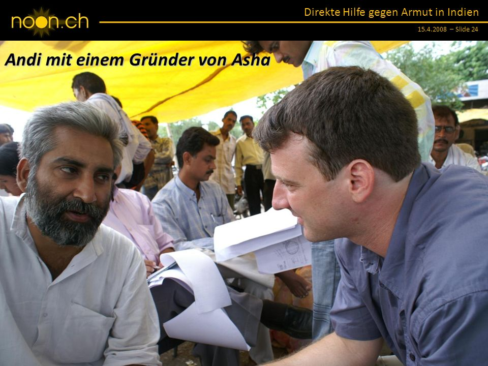 Andi mit einem Gründer von Asha