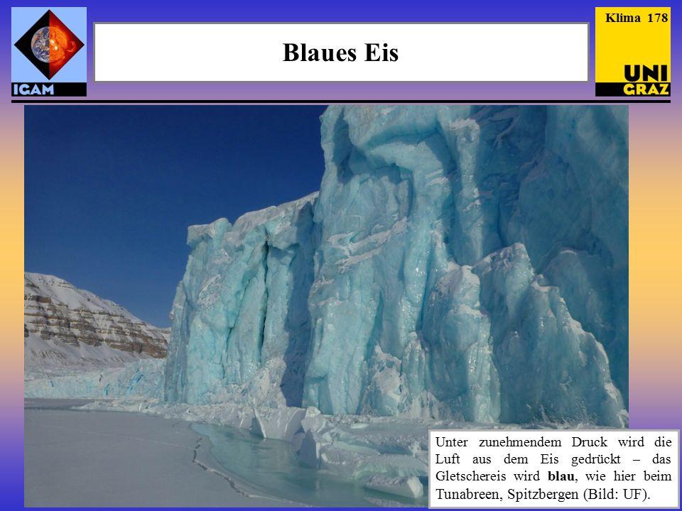 Klima 178 Blaues Eis.