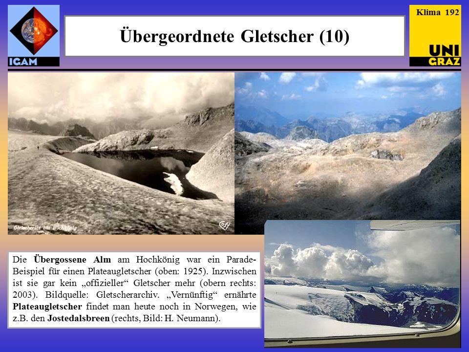Übergeordnete Gletscher (10)