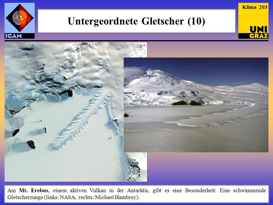 Untergeordnete Gletscher (10)