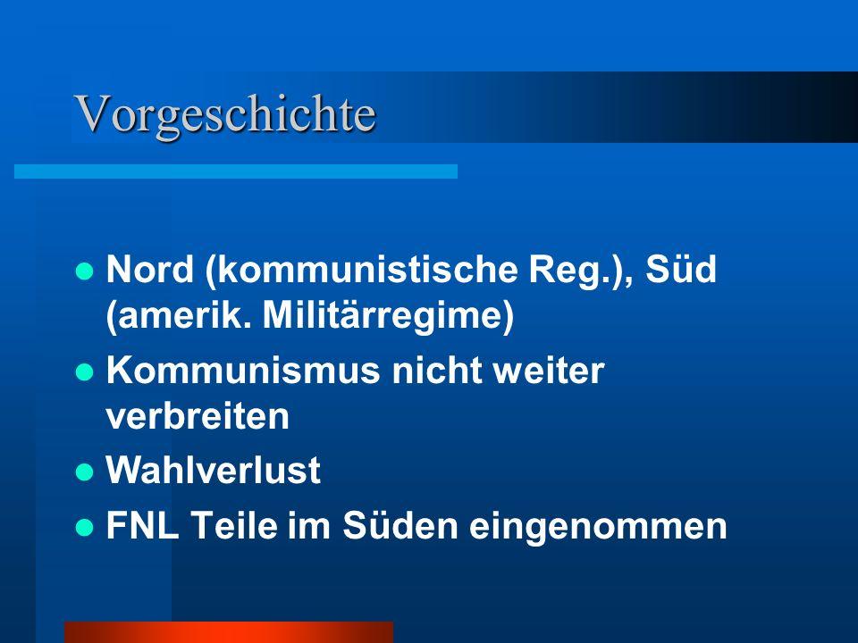 Vorgeschichte Nord (kommunistische Reg.), Süd (amerik. Militärregime)