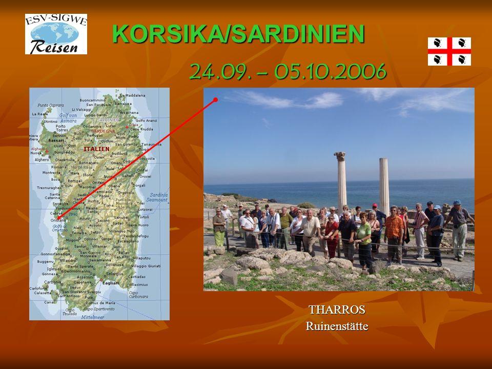 KORSIKA/SARDINIEN 24.09. – 05.10.2006 THARROS Ruinenstätte