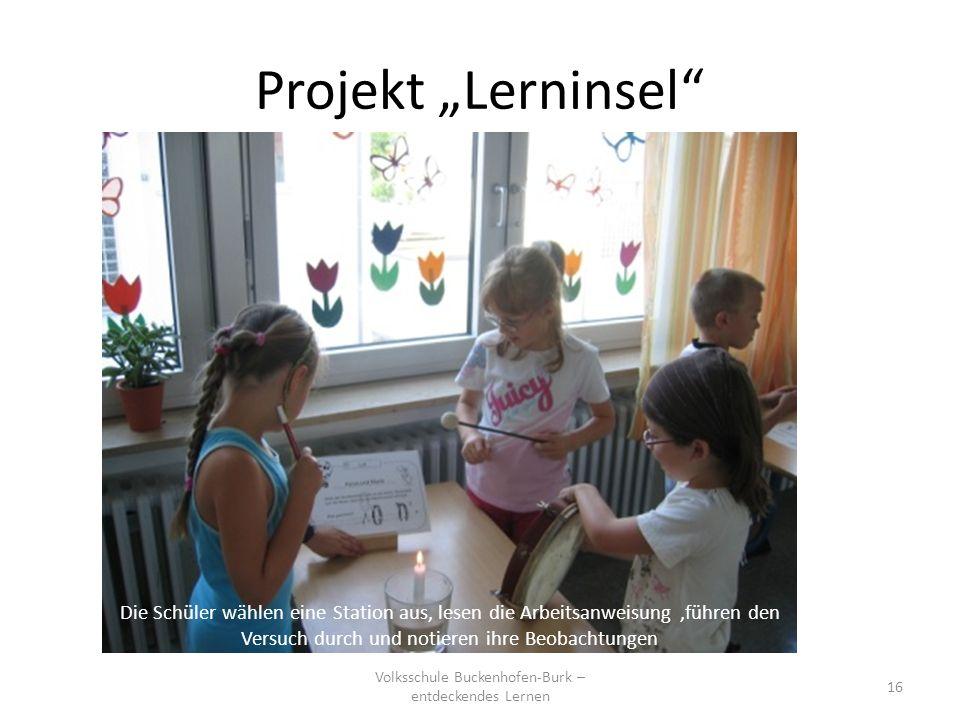 Volksschule Buckenhofen-Burk – entdeckendes Lernen
