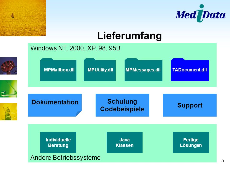 Lieferumfang Windows NT, 2000, XP, 98, 95B Dokumentation Schulung