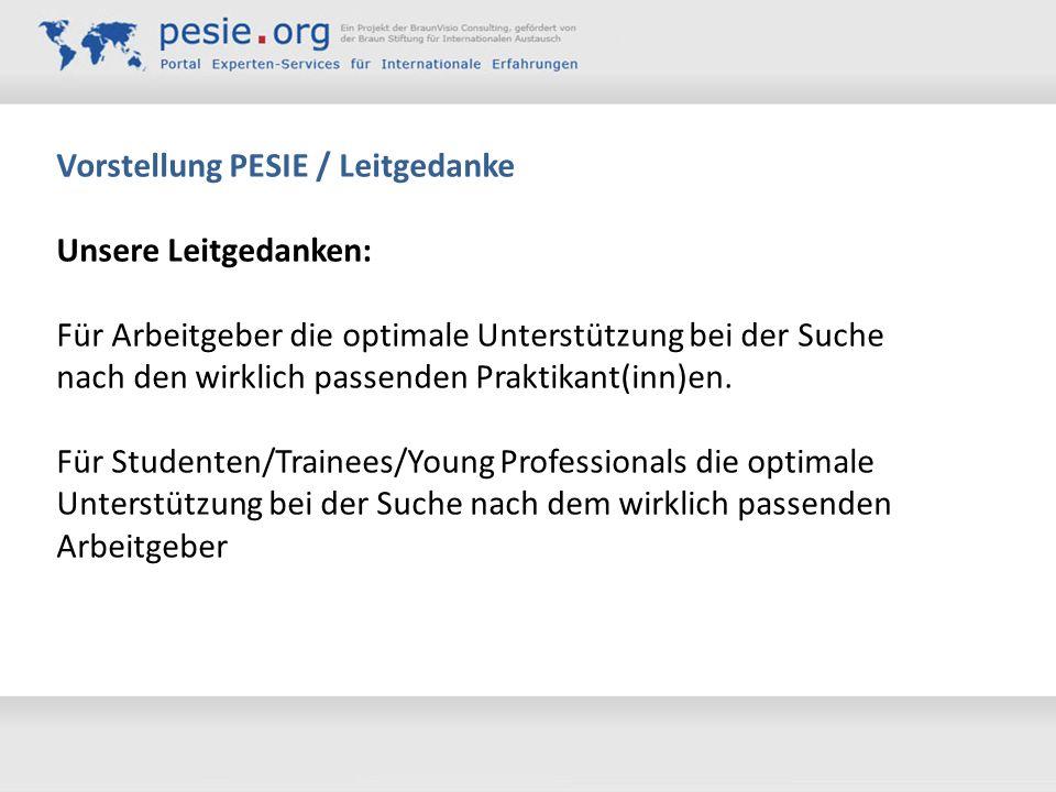 Vorstellung PESIE / Leitgedanke