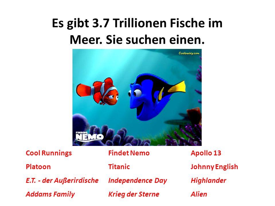 Es gibt 3.7 Trillionen Fische im Meer. Sie suchen einen.