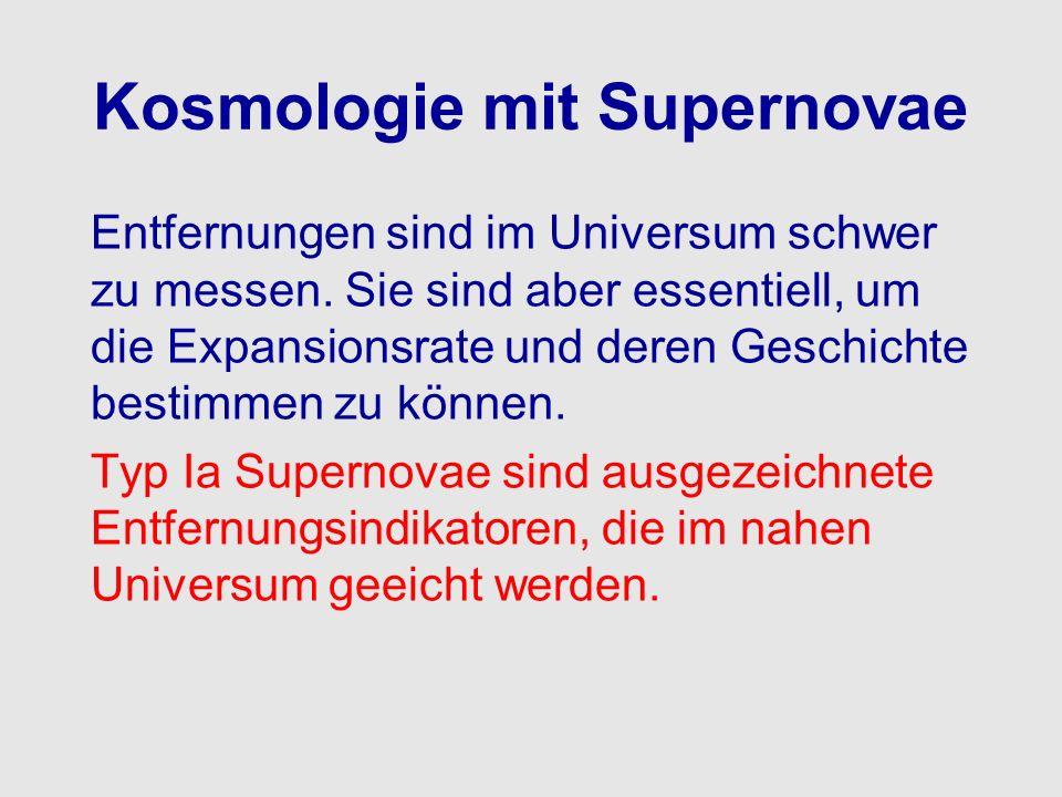 Kosmologie mit Supernovae