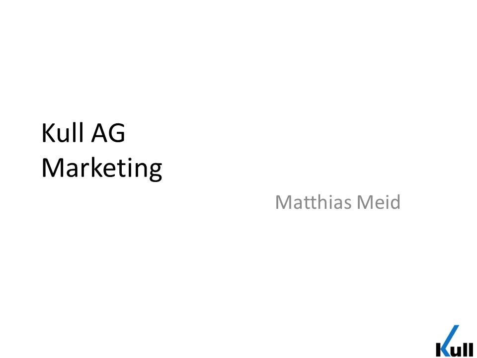 Kull AG Marketing Matthias Meid