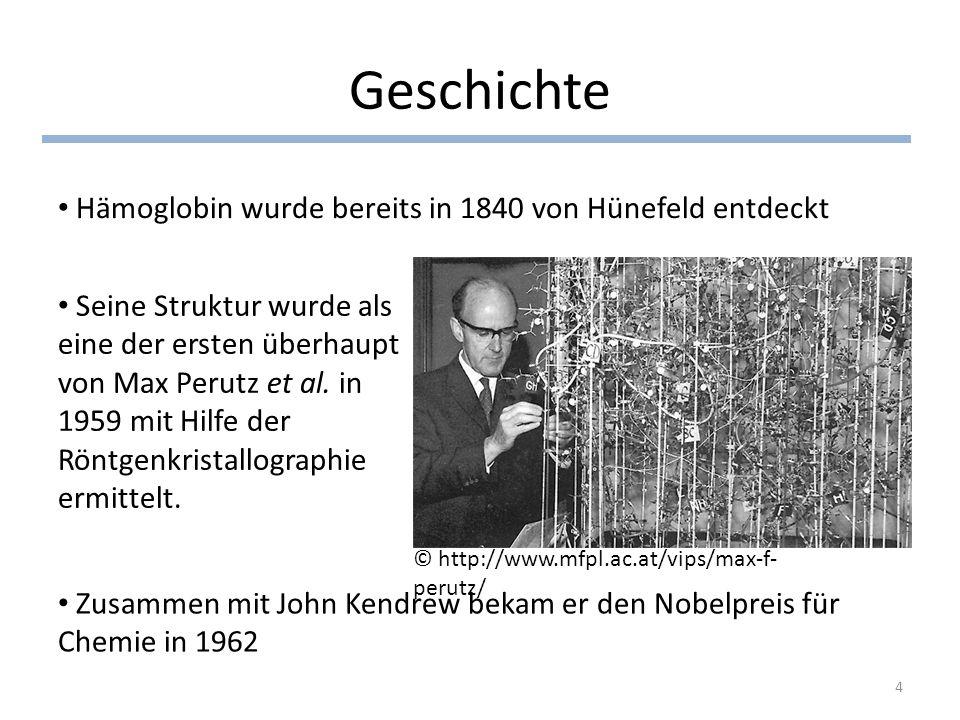 Geschichte Hämoglobin wurde bereits in 1840 von Hünefeld entdeckt