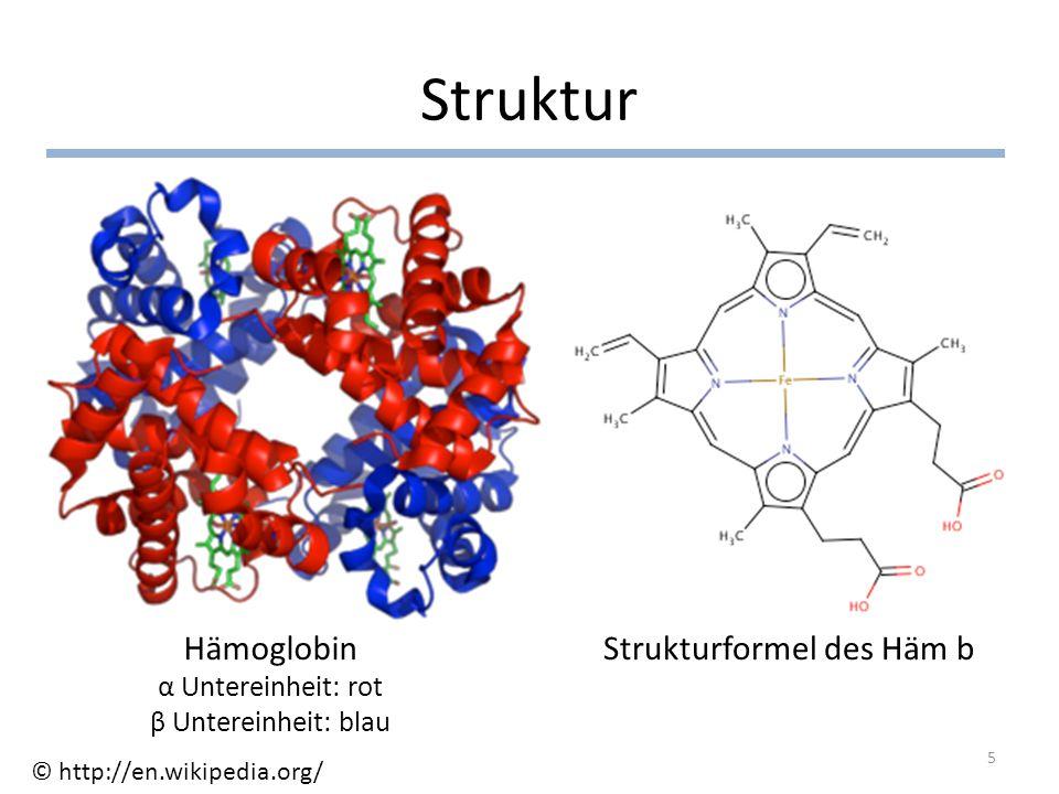 Strukturformel des Häm b
