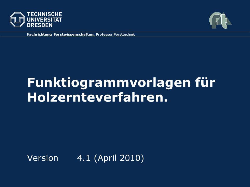 Funktiogrammvorlagen für Holzernteverfahren.