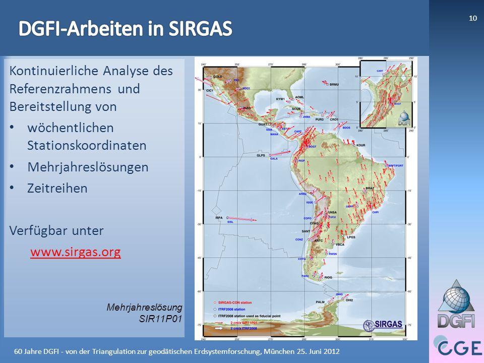 DGFI-Arbeiten in SIRGAS