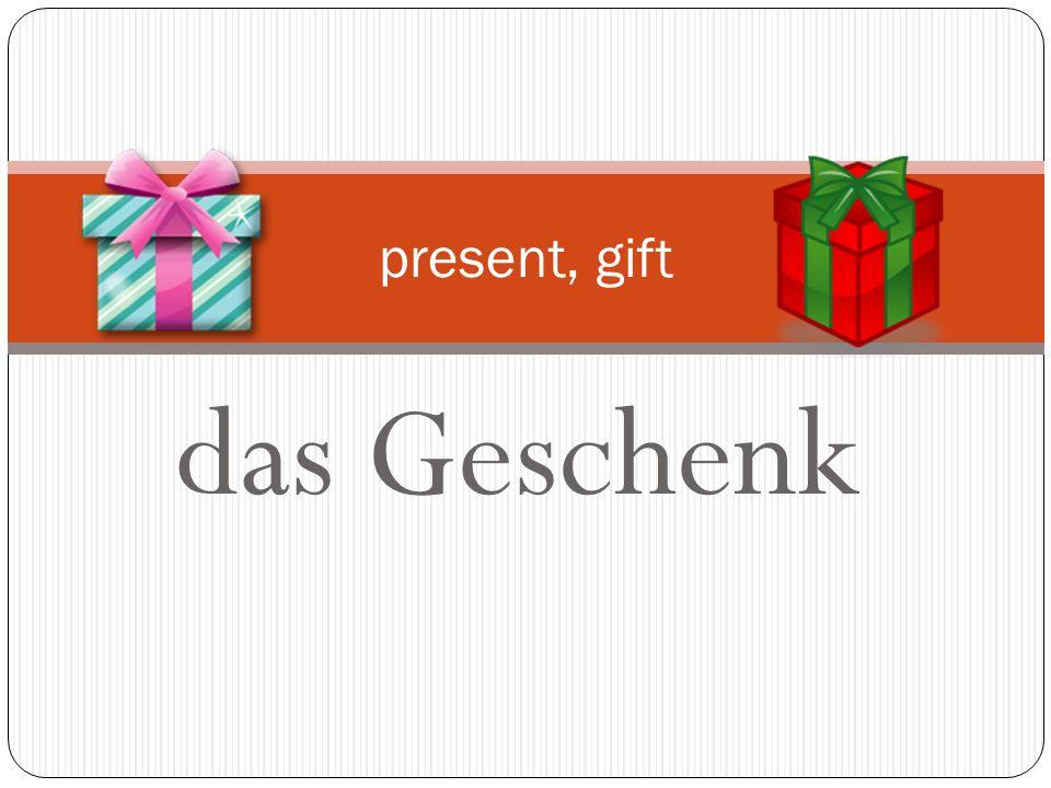 present, gift das Geschenk