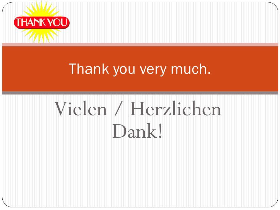 Vielen / Herzlichen Dank!