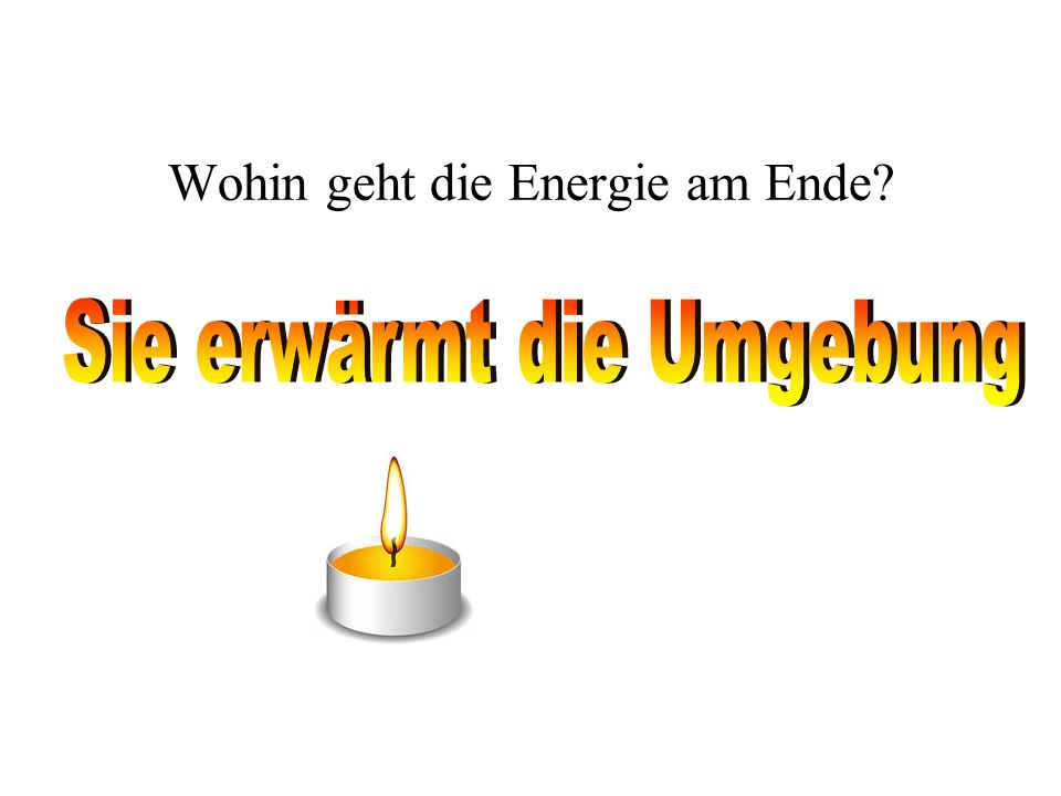 Wohin geht die Energie am Ende